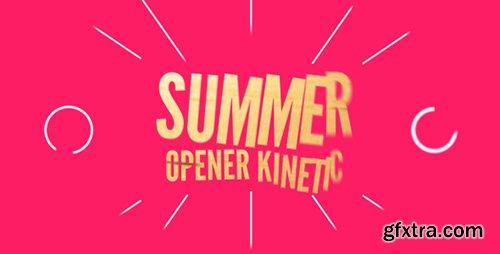 Videohive Summer Opener Kinetic 16799070