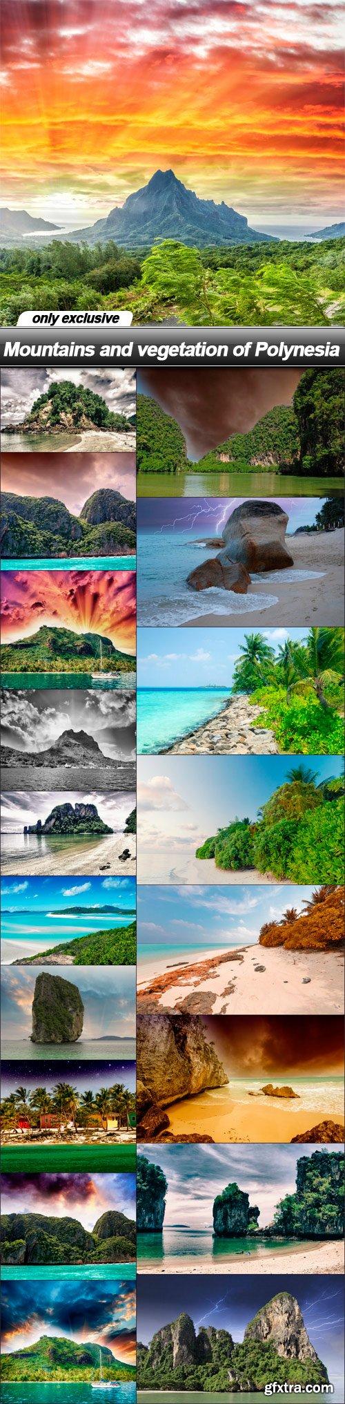 Mountains and vegetation of Polynesia - 19 UHQ JPEG