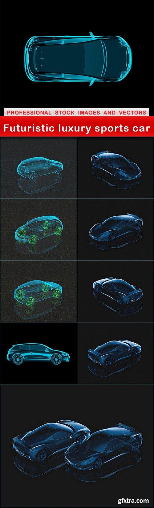 Futuristic luxury sports car - 10 UHQ JPEG