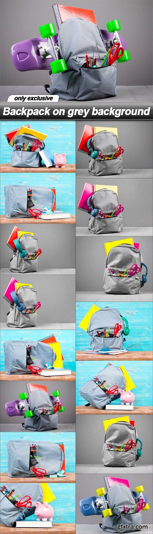 Backpack on grey background - 15 UHQ JPEG