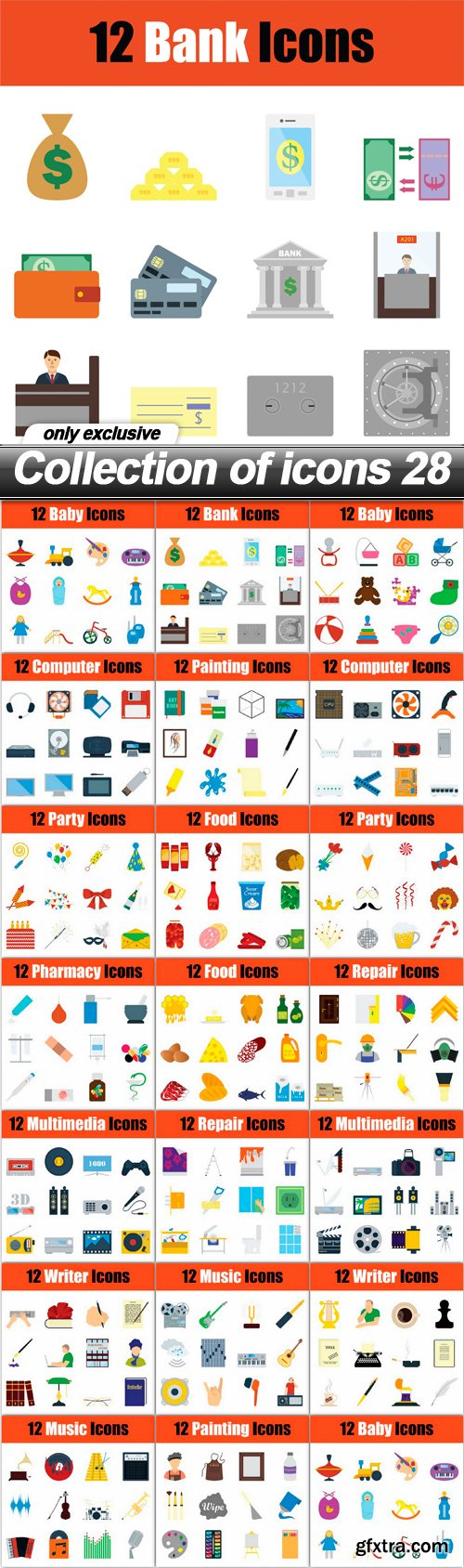 Collection of icons 28 - 20 EPS