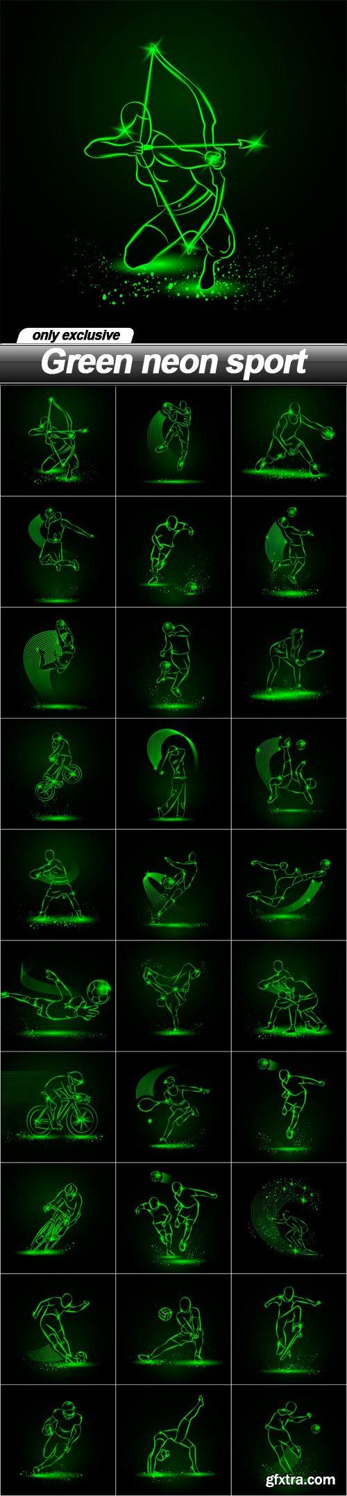 Green neon sport - 30 EPS