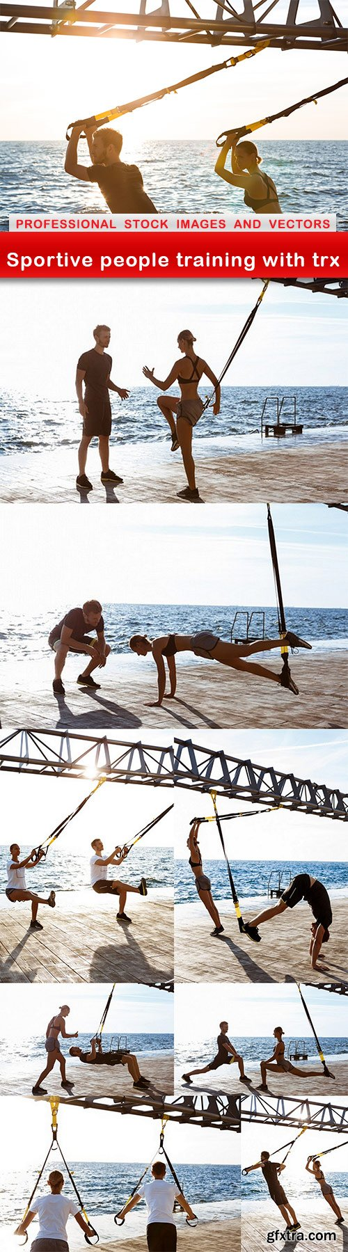 Sportive people training with trx - 9 UHQ JPEG