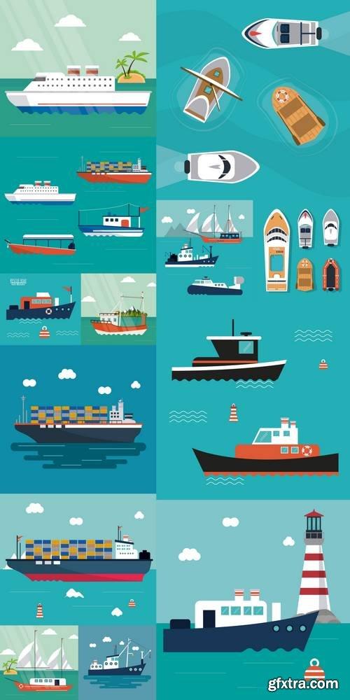 Boat Ship Sea Ocen Transportation Icon