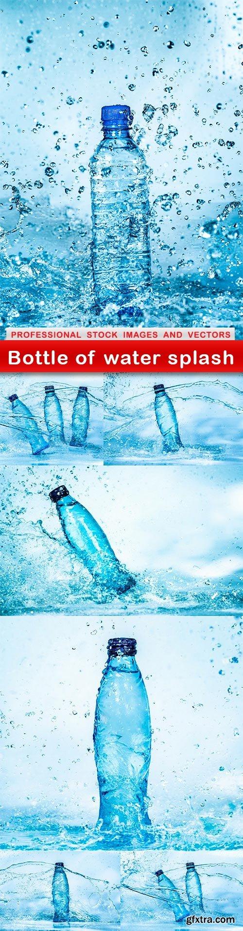 Bottle of water splash - 7 UHQ JPEG