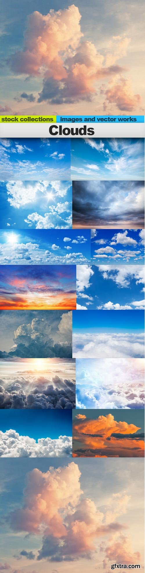 Clouds, 15 x UHQ JPEG