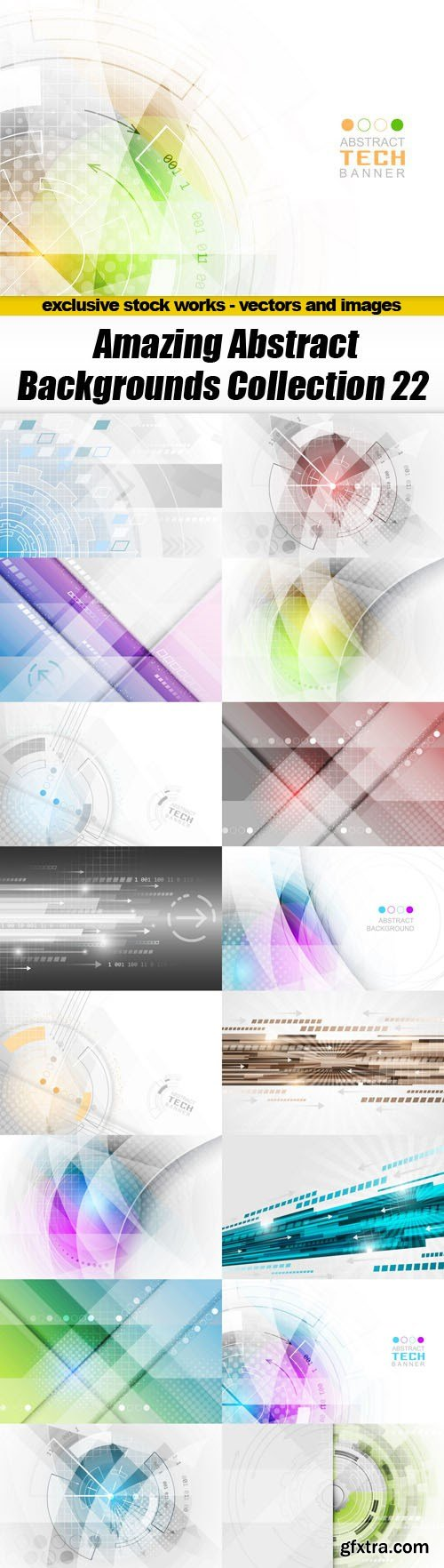 Amazing Abstract Backgrounds Collection 22 - 17xEPS