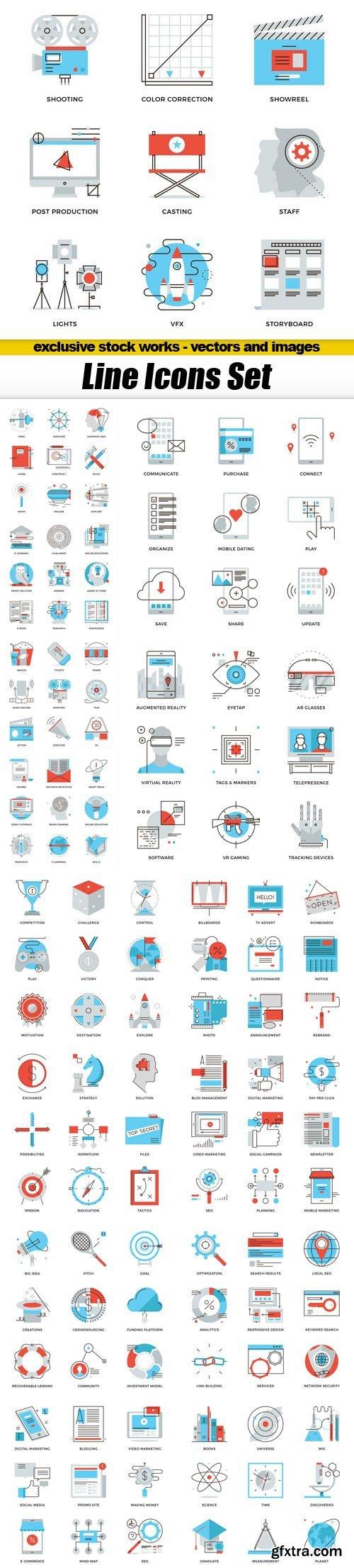 Line Icons Set - 15xEPS