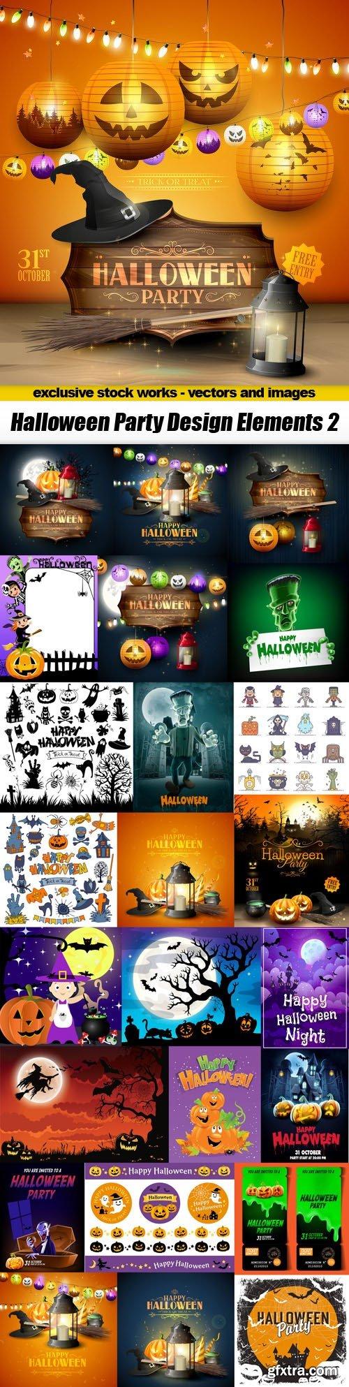 Halloween Party Design Elements 2 - 25xEPS