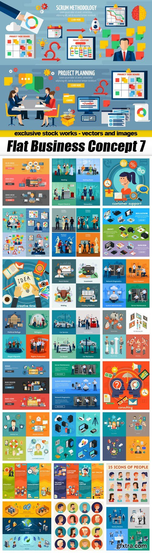 Flat Business Concept 7 - 25xEPS
