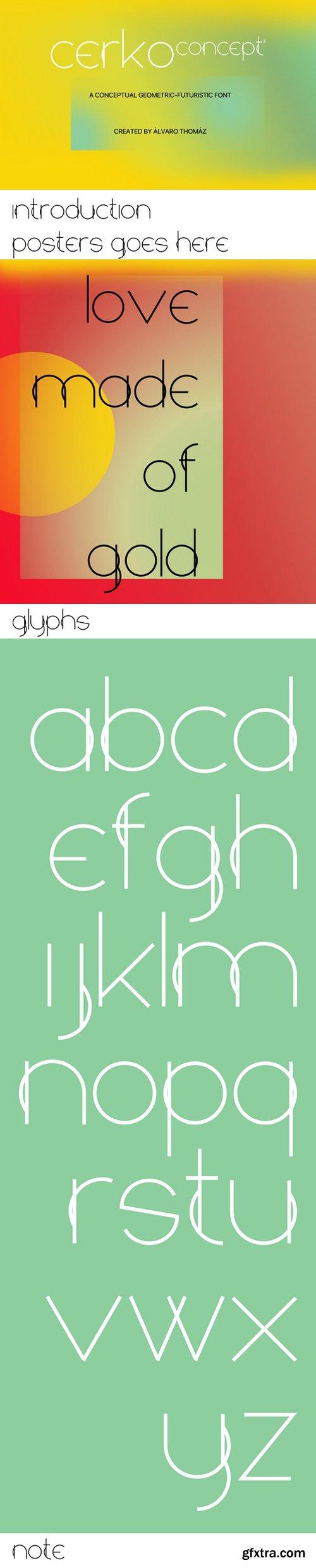 Cerko - geometric-futuristic font