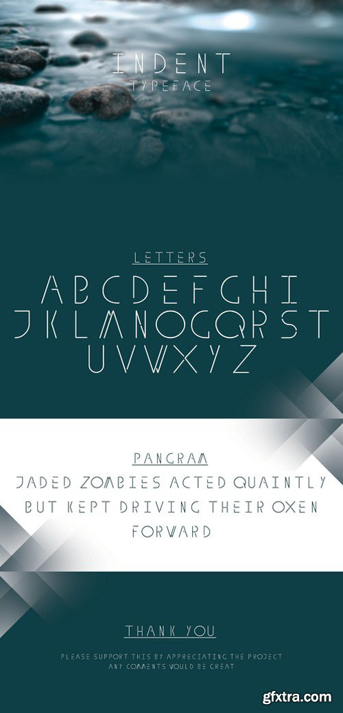 Indent Typeface - Font