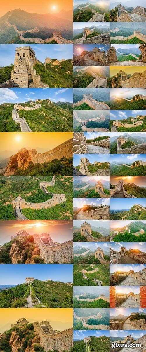 Great wall under sunshine during sunset?in Beijing, China