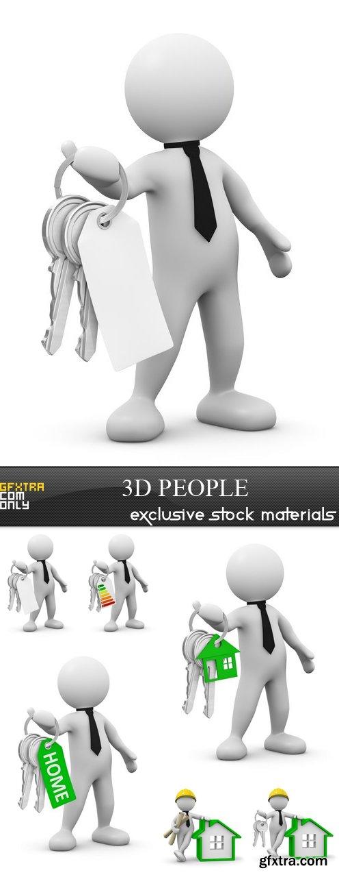 3D People - 6 UHQ JPEG
