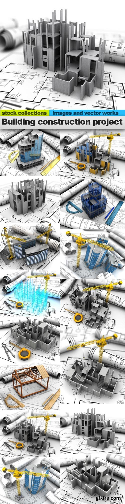 Building construction project, 15 x UHQ JPEG