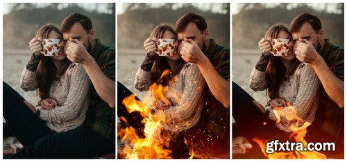CM - Fire and Sparks Photoshop Overlays 888574
