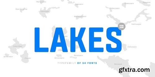 TT Lakes Font Family 54 Fonts