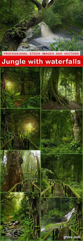 Jungle with waterfalls - 9 UHQ JPEG