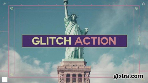 Glitch Action Slides - After Effects Template