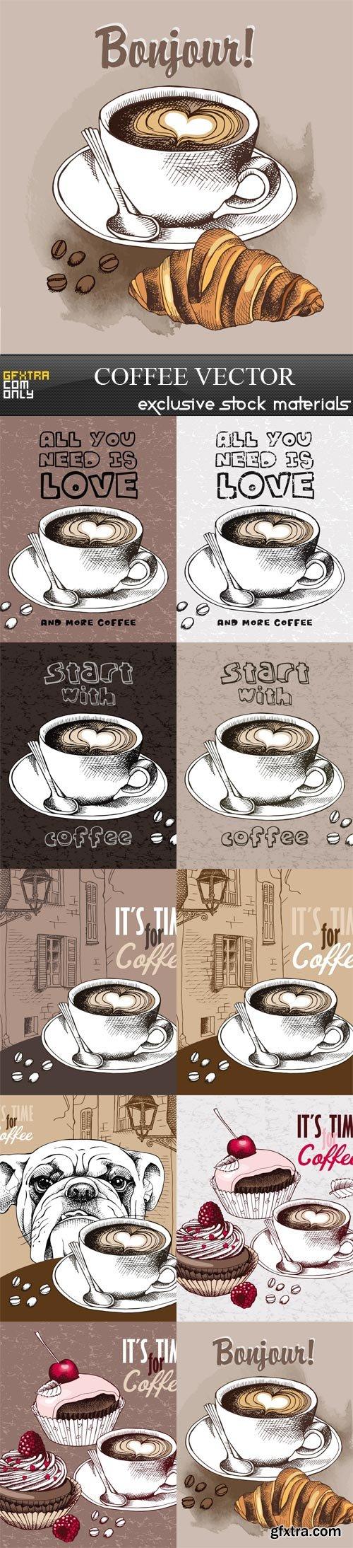 Coffee vector, 10 х EPS