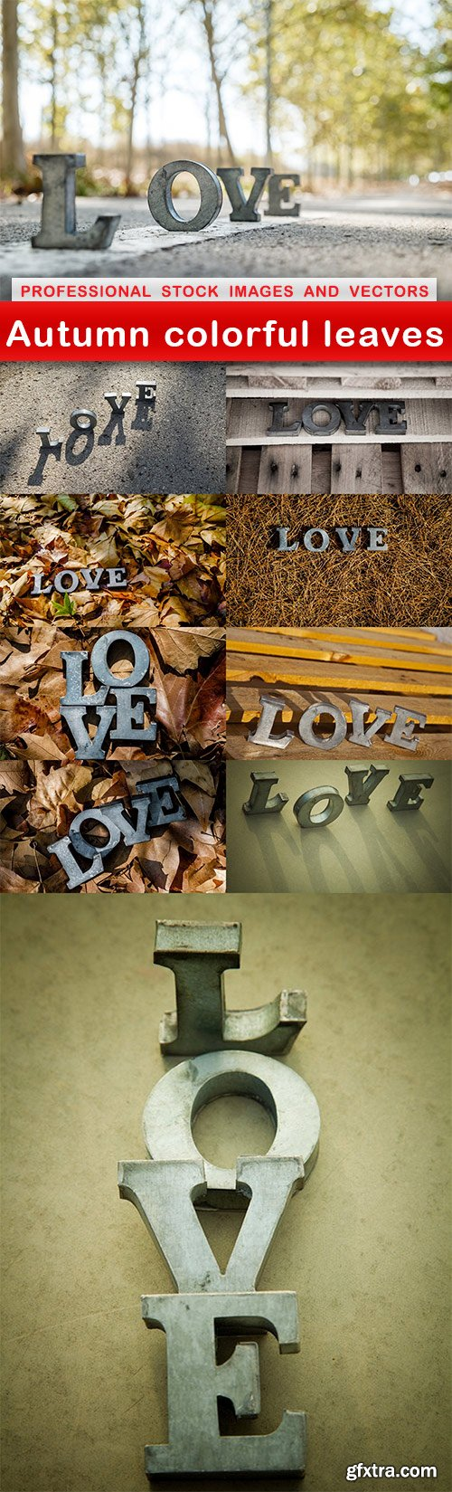 Autumn colorful leaves - 10 UHQ JPEG