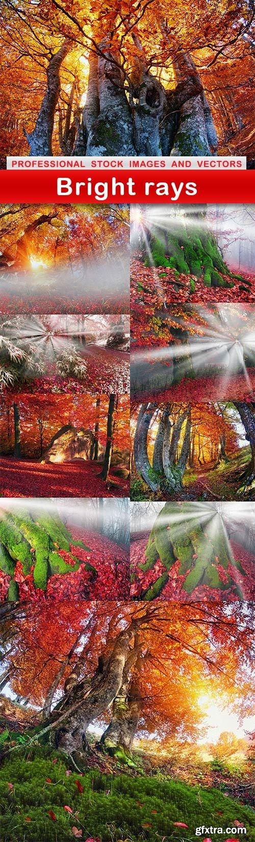 Bright rays - 10 UHQ JPEG