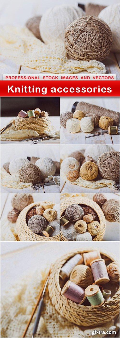 Knitting accessories - 8 UHQ JPEG