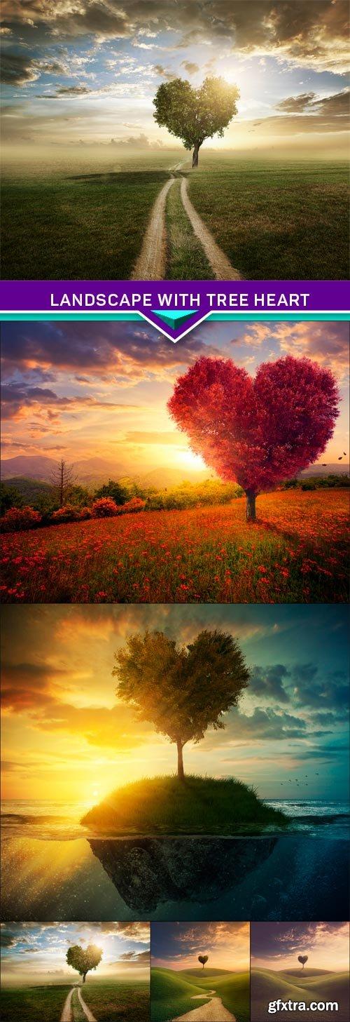 Landscape with tree heart 5X JPEG