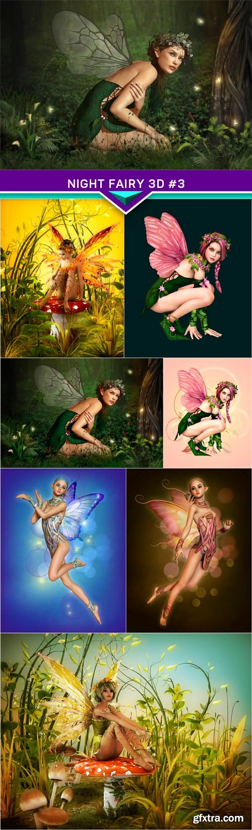 Night Fairy 3d #3 7X JPEG