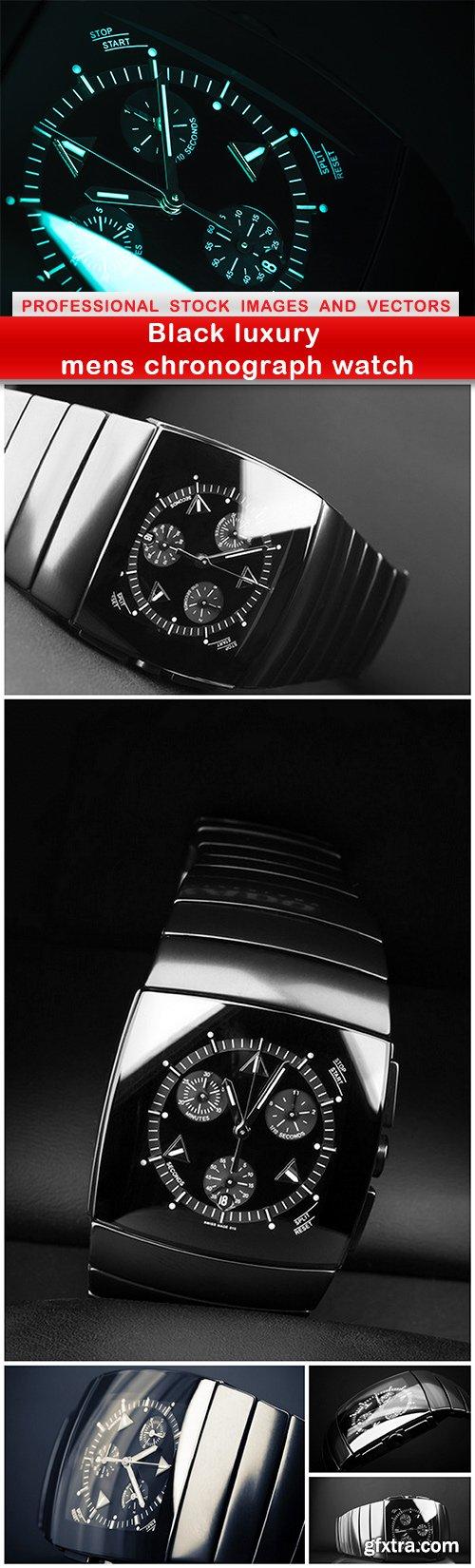 Black luxury mens chronograph watch - 6 UHQ JPEG