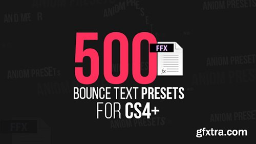 Videohive 500 Bounce Text Presets 15147802