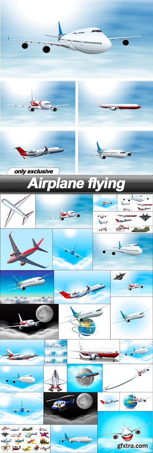 Airplane flying - 29 EPS