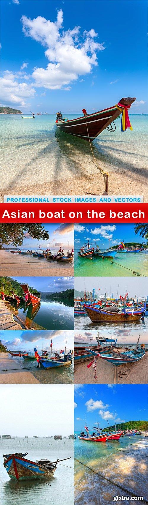 Asian boat on the beach - 9 UHQ JPEG