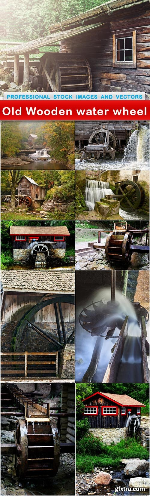 Old Wooden water wheel - 11 UHQ JPEG