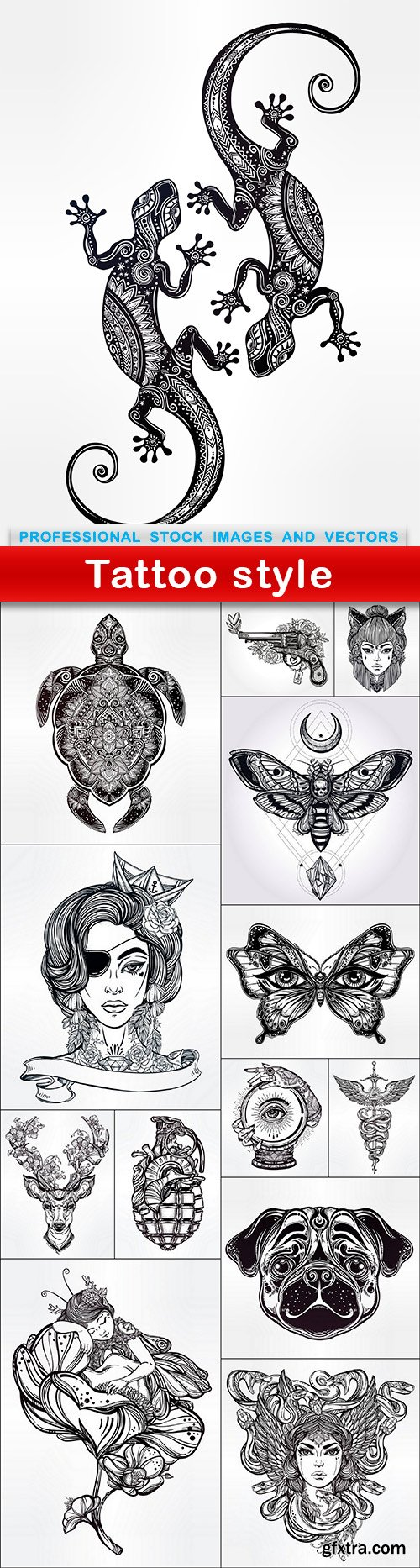 Tattoo style - 14 EPS