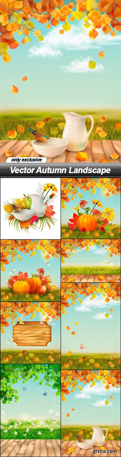 Vector Autumn Landscape - 8 EPS