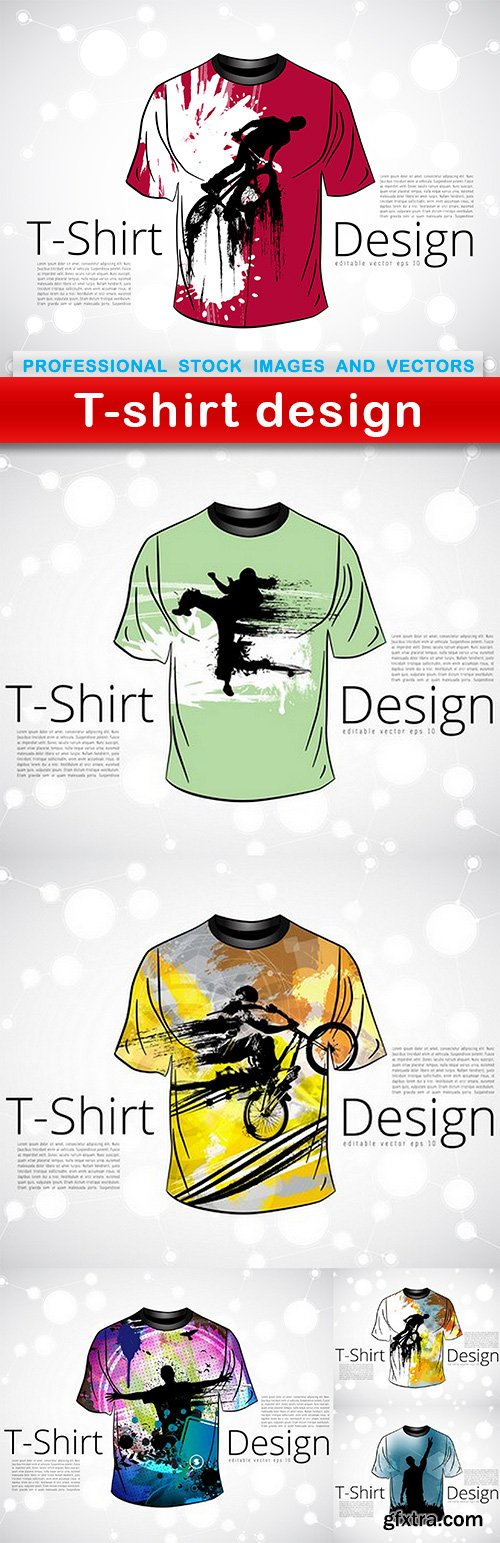T-shirt design - 6 EPS