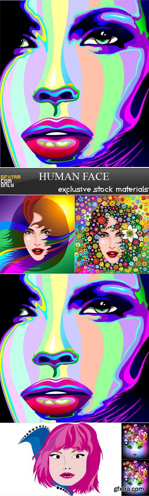 human face - 6 EPS