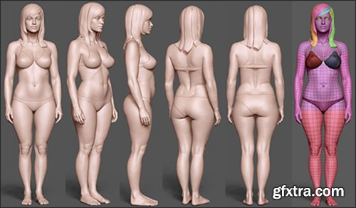 Gumroad Female BaseMesh Reprojected By Kamikaze 88