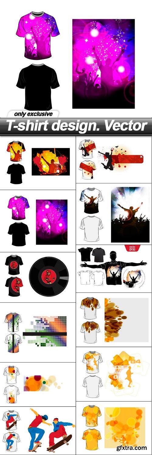 T-shirt design. Vector - 12 EPS