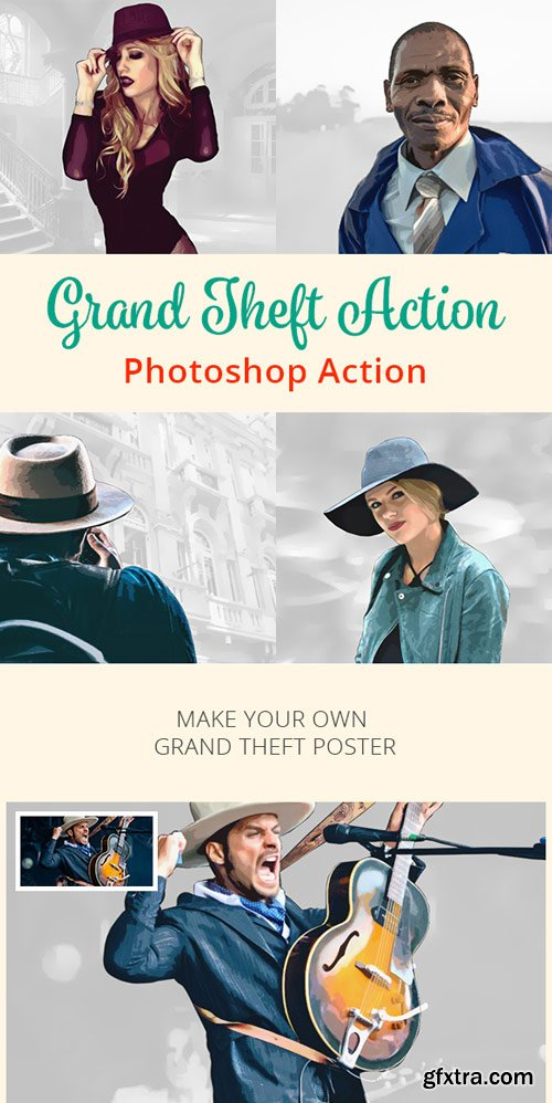 GraphicRiver - Grand Theft Action - Photoshop Action - 17810563
