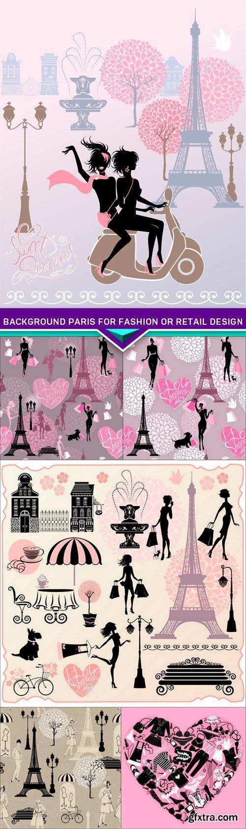 Background Paris for fashion or retail design 6X EPS