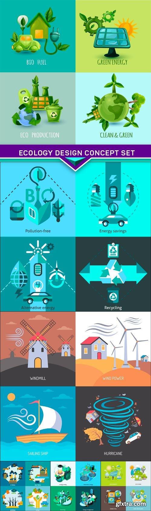 Ecology design concept set 6X EPS