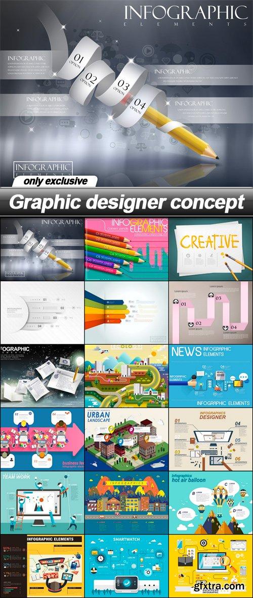 Graphic designer concept - 18 EPS