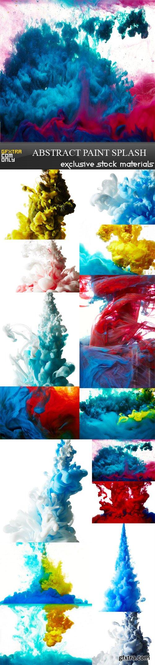 Abstract paint splash, 15 UHQ JPEG