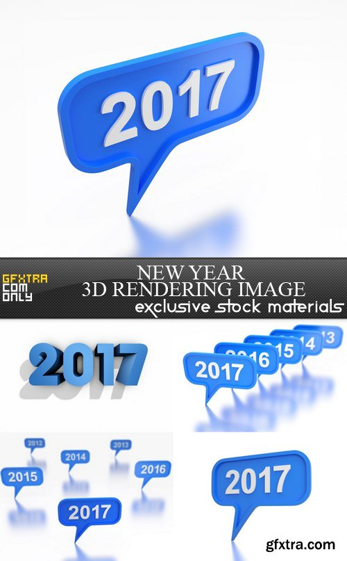 New Year 3D Rendering Image - 5 UHQ JPEG