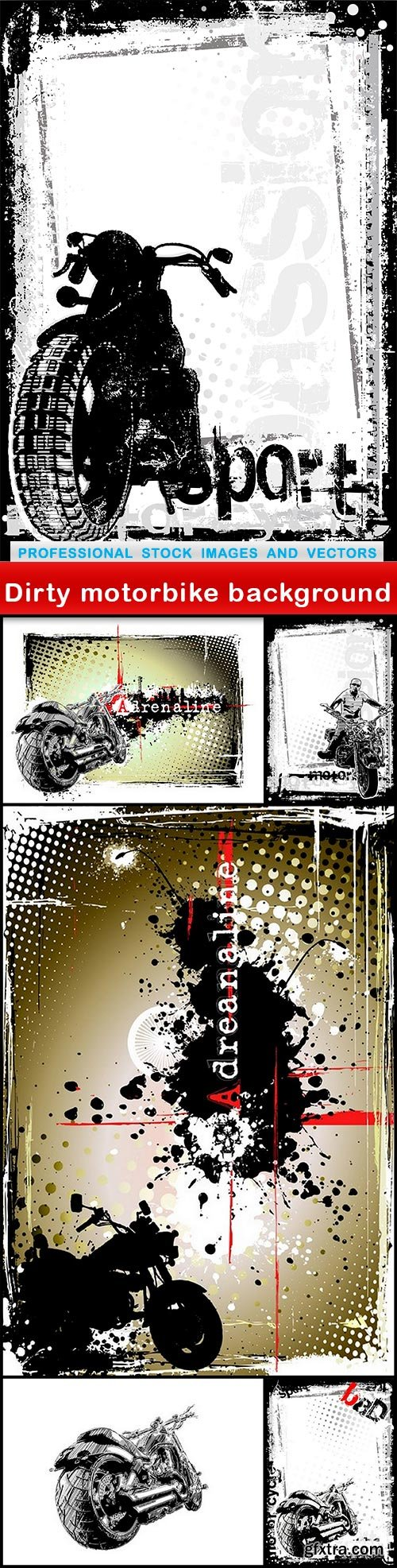 Dirty motorbike background - 6 EPS