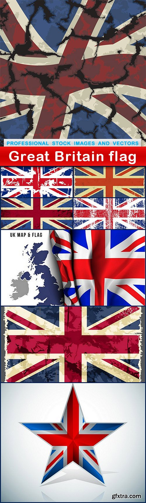 Great Britain flag - 8 EPS