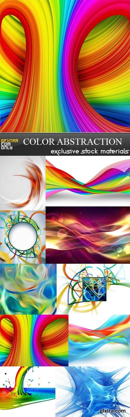 Color abstraction, 10 x UHQ JPEG