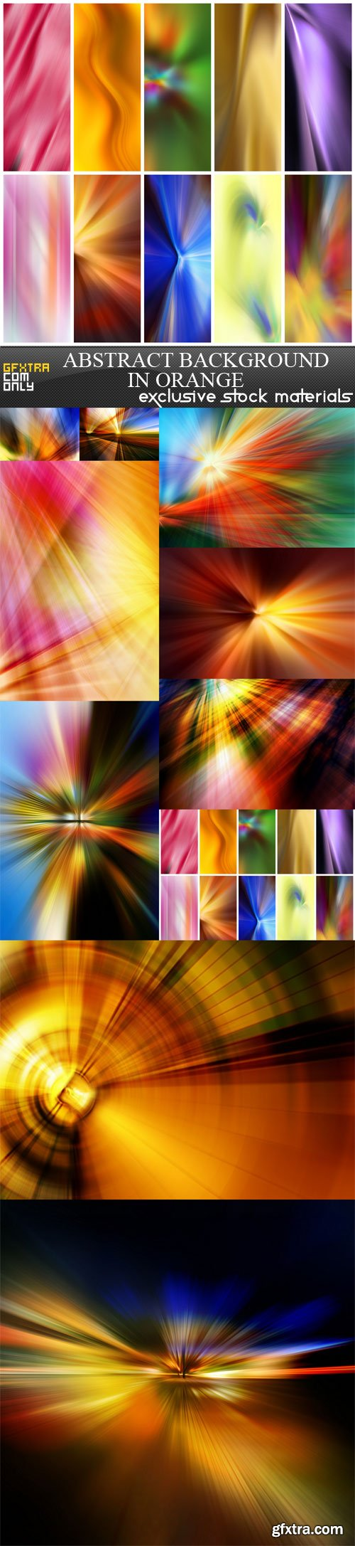 Abstract background in orange, 10 UHQ JPEG